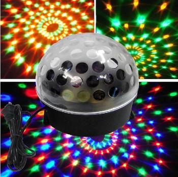 Free shipping RGB Crystal Magic Ball Effect Light DMX Disco DJ Stage Light Lighting 90-240V 20W