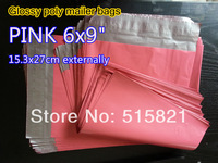 """[cnklp]- Hot Pink 6"""" x 9"""" 153mm x 270mm SELF SEAL POLY MAILERS BAGS ENVELOPE [200PCS]"""
