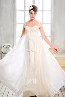 Free Shipping S1321 Women 2013 New Luxury Trailing Wedding Dress V-neck Sling Bag Shoulder Bra