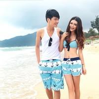 2013 summer lovers flower beach shorts men swimming shorts women travel shorts