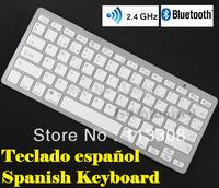 Spanish Bluetooth Wireless Keyboard Spanish Keyboard for Mac Ipad Iphone & Windows,Free Shipping