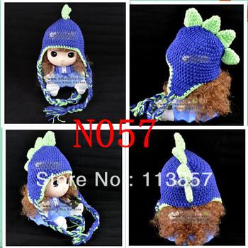 new dinosaur character crochet animal  winter hat baby beanie pattern photography props minions ACRYLIC