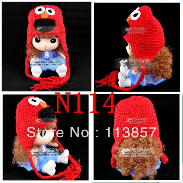 Free Crochet Pattern For Elmo Beanie : character-crochet-animal-winter-elmo-hat-baby-beanie ...