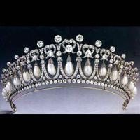 Colour bride classic fashion pearl rhinestone married big hair accessory hair bands accessories wedding accessories