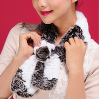 2013 New Real REX rabbit fur scarf wrap cape shawl neck warmer in fashion 13504