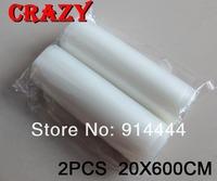 "2pcs 20X600CM vacuum sealer roll / 8""x20' vacum roll/ FDA&BPA FREE/ suitable for foodsaver"