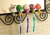 5pcs/lot Cute Cartoon Animal Sucker Toothbrush Holder Hot Sale Send By Mix Random  Free Shipping