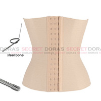 Waist Training Corset Bustier Top Steel Boned Corset Black Khaki Free Shipping