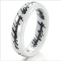 Free Shipping Stainless steel White Lord of the Rings for men,Fashion Jewelry,Valentine's Day gift  100389