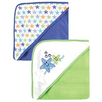 Baby Print Hooded Towels 2 Pack,towel bath baby  Free Shiping