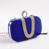 Free Shipping!2013 New Brilliant Finger Fashion Commerce Dinner Will Pack Flannel Women Hand Bag,  X-010