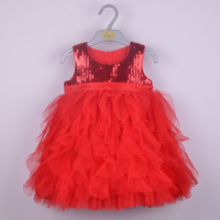 5Pcs/Lot Kids Sequin TUTU Dresses Children Boutique Cakes Sequin Dress For Party Christening Gown For Baby Girl Hot 0806004-BD