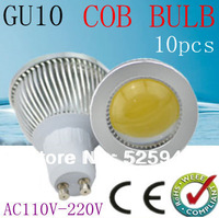 10PCS Free shipping  Dimmable gu10 / E27 / E14 / MR16 /6w 9W 12W COB AC85-265V High Power Led Light Bulbs