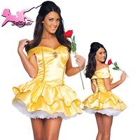 cosplay Golden skirts in Europe and maid evening dew shoulder princess bitter fleabane bitter fleabane costumes clothing FM012