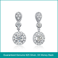 Wholesale & Retail for 100% Guaranteed Genuine 925 Sterling Silver Earrings/ Top Quality Silver Earrings 925 (B0271)