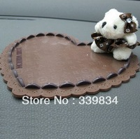 2013 Heart-shaped Cartoon Bear Car Anti Non Slip Pink Pad Cell Phone Mat GPS Holder Great Quality Antislip Car Accessories