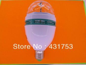2014 New Sale Ccc Ce Rohs 3 Pcs ( Free Shipping )new E27 3*3w 85v-265v/ac Rotating 3 Led Spot Light Bulb Lamp 2 Years Warranty )