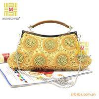 Free Shipping! Popular Craft Dazzling Women Beaded Bag Evening Bag Banquet Bag Fashion Chain Bag Handbags, X-0810