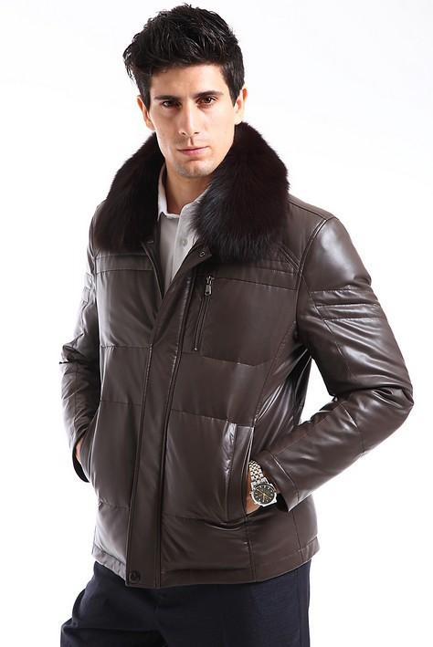 2013-New-Arrival-Men-s-Genuine-Goatskin-Leather-Jackets-Outwear-Coat ...