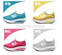 Korean women summer shoes breathable  casual shoes platform slimming thin shoes mesh shoes tide
