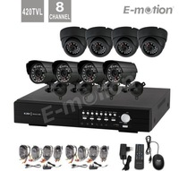 8CH DVR Kit security camera system with 8CH D1 DVR 480TVL IR indoor Cameras 8CH CCTV system for Home and Business Surveillance