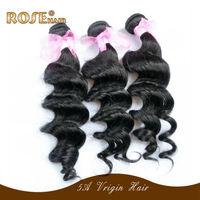 "Loose wave Peruvian Virgin Hair Extensions,natural human hair weave,rose Hair products 3pcs/lot 10""-30""  Fast DHL free shipping"