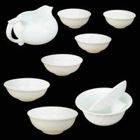 Free shipping hot selling product 1+1+6 DeHua White color Tea Set ( tureen ) Cha Hai +GaiWan +porcelain tea cups