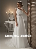 Free Shipping Stock White Chiffon Party/Prom/Bridesmaid/Formal Dress Wedding Dress Free Shipping