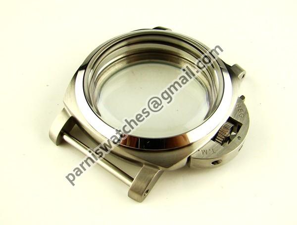 Free Shipping 44mm militaty Lumino Style Polished Steel watch Case Set Wholesale(China (Mainland))