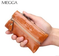 Megga fashion genuine leather keyholder male female automotive genuine leather key wallet zipper key bag zipper bag