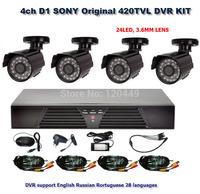 Home  4CH CCTV Security Camera System 4CH DVR SONY 420TVL Outdoor Day Night IR Camera DIY Kit Color Video Surveillance System