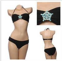 New explosion models sexy women bikini Star Crystal Diamond Bra Bikini Swimwear free shipping DST-261