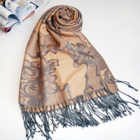 Fashion national wind scarf shawl super good touch feeling of silky stripe jacquard scarf shawl wholesale foreign trade A1020