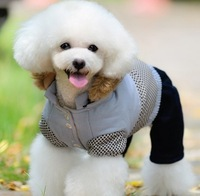 Autumn and winter handsome  split cotton-padded jacket pet clothes teddy vip dog  wadded jacket