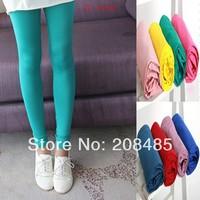 2014 New Fashion Multicolour neon leggings capris candy color elastic size Nine Point milk silk pants Trousers leggings 21colors
