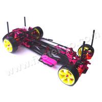 Carbon Aluminium Kit 1/10 4WD Drift Racing RC Car SAKURA D3 3R Front Motor DGCS