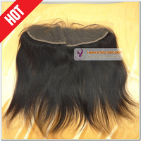 Free shipping 13x4 brazilian virgin remy  lace frontal with baby hair hair black natural color straight