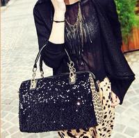 Free shipping Europe leopard shoulder bag pu handbag new fashion bags ladies handbag women casual clutch bag tote hand bag