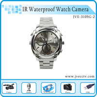 Waterproof 1080P 4GB Watch Hidden Camera DVR Video Recorder Built In 4GB Samsung TF Card,IR Night Vistion Watch HK Free Shipping