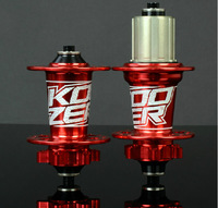 2014 New Koozer ultra-light aluminum cnc four bearing hubs mtb disc hubs lighter than Novatec hubs