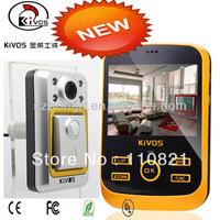 "Free Shipping KDB01-S 3.5"" LCD Digital HD Monitor Door Viewer Night Version Camera with Doorbell+Motion Sensor+TFT card slot"