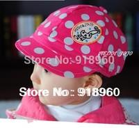 2013 New Fashion Polo baseball cap/children's girls' &boys' dot pattern sunhat/Free shipping Wholesale good quality 3 colors/Ats