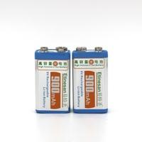 2 pcs / lot  9v SUPER BIG 900mAh li-ion lithium Rechargeable 9 Volt Battery Manufacturer's  warranty