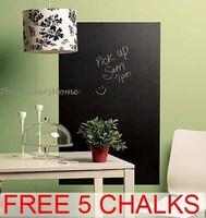 Free shipping 45x200cm Blackboard Chalkboard Wall Stickers Removable Vinyl Decor Mural Decals
