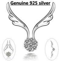 Kastm brand wholesale 925 sterling silver platinum crystal pendant  necklace   ksn048