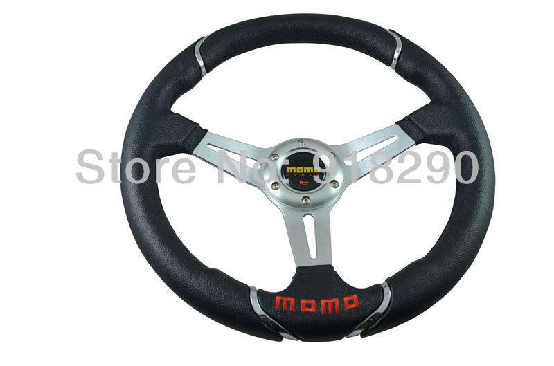 14 inch PVC Racing Steering Wheel MOMO Drifting Steering Wheel PVC(China (Mainland))