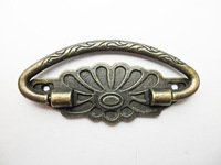 free shipping 10 pcs vintage 75mm X 29mm Lotus Shape dresser drawer pulls handles  / Vintage Furniture Knobs Handle