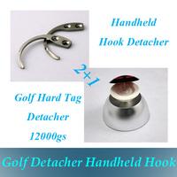 12000GS Universal Golf Hard Tag Detacher EAS tag Remover +2 pcs Handheld  EAS Hard Tag Hook Security Detacher