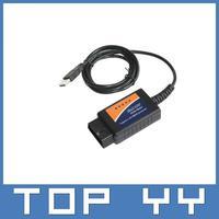 Free Shipping auto diagnostic tools ELM 327 Interface OBD2 OBD scanner USB car diagnostic scan tool ELM327