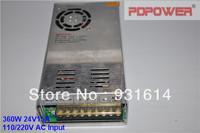 High Reliability & 2-Year Warranty, 360W 24V15A AC/DC Switching Power Supply Box, Single Output, CE/Rohs/FCC/IEC